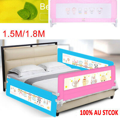 Kids Baby Safety Bed Rail Toddler Bedrail Fold Cot Guard Protection 180cm 150cm