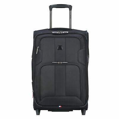 "DELSEY Paris 21"" Expandable 2 Wheel Spinner Carry On Travel Luggage Case, Black"
