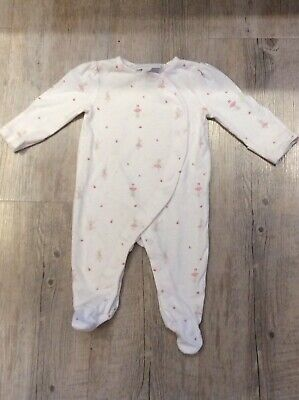 The Little White Company Girls Sleepsuit 0-3 Months