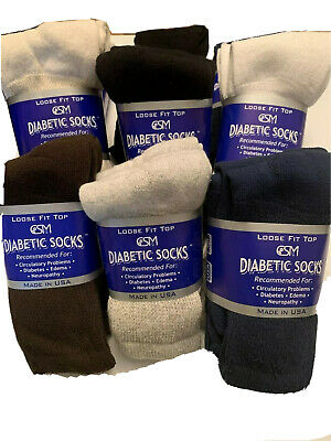 Diabetic Circulatory Crew Socks 3/6/9/12 Pairs   Men//Women