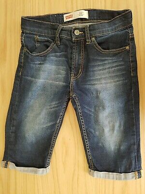 Boys LEVIS 511 SLIM stretch Denim Shorts Size 12 Years Adjustable Waist