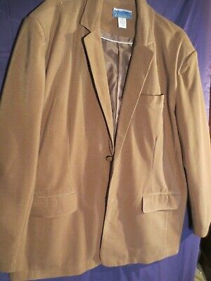 Haband Stag Hill Mens Corduroy Suit Blazer Coat Jacket tan