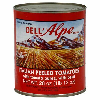 DELL ALPE, TOMATO IMPORTED, 28 OZ, (Pack of 12)
