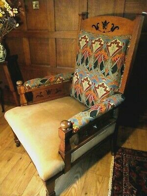 Arts and Crafts Chair Armchair  Circa 1900 -Manner of Liberty