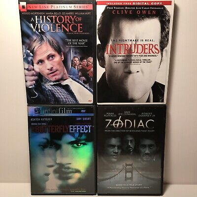 Horror Thriller DVD Lot - Zodiac History Of Violence Butterfly Effect Intruders
