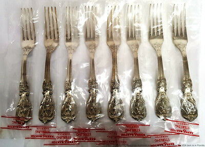 Reed Barton Francis I Set 8 Never Used Vintage Sterling Silver Dinner Forks