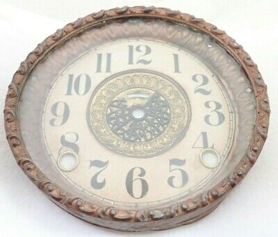 Antique Mantel Shelf Parlor Clock Dial Bezel Parts Repair
