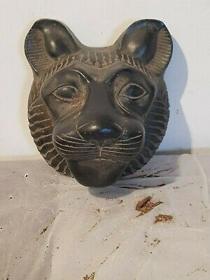 Rare Antique Ancient Egyptian Mask God Sekhmet lion War soldiers Army1750-1680BC