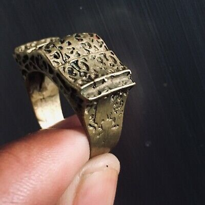 Rare Ancient medieval Viking Military Bronze Ring Museum Quality Artifact