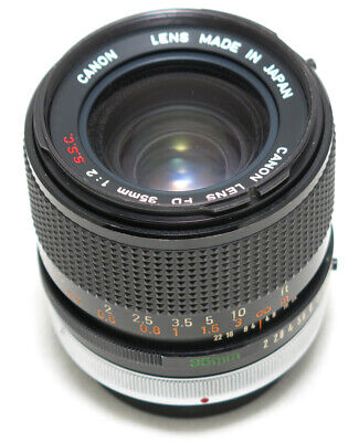 Canon FD 35mm f/2.0 S.S.C.Wide Lens EXC+++