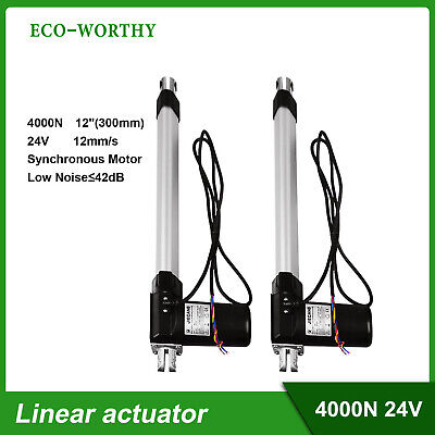 """Linear Actuator 4000N 12mm/s Hall Switch Synchronous Motor 12"""" Mute Design IP54"""