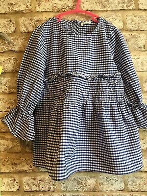 Next Age 6 Girls Cotton Gingham Smock Top Worn Once