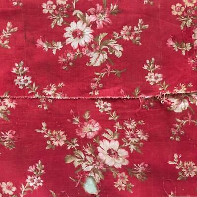 2 FRAGMENTS BEAUTIFUL LATE 19th CENTURY FRENCH COTTON 683
