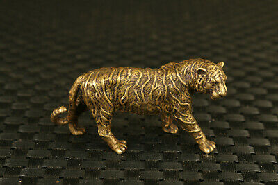 chinese collectable bronze old casting tiger statue figure