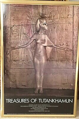 *Rare and vintage* 4 professionally framed Treasures of Tutankhamun posters