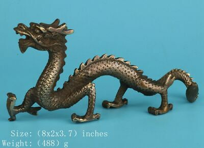 Unique Chinese Bronze Statue Sacred Dragon Crafts Collection Gifts