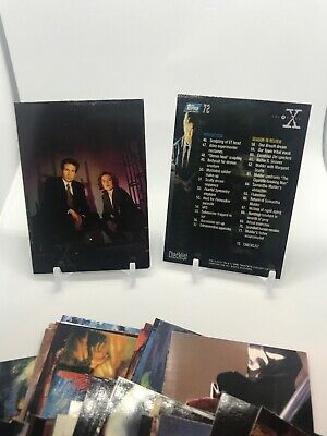 1996 Topps X-Files Season 2 Trading Card Complete Set (72 cards)