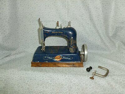 Antique *Junior Miss* Miniature Toy Sewing Machine, Made New Haven Connecticut