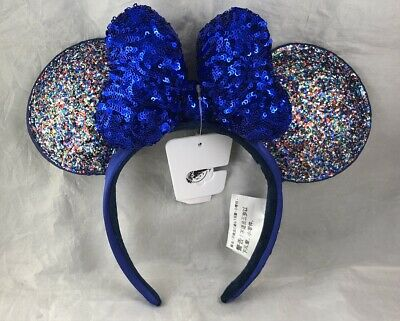 Disney Park 2020 Mouse Minnie Ears Bow Glitter Headband Hat WDW - NEW