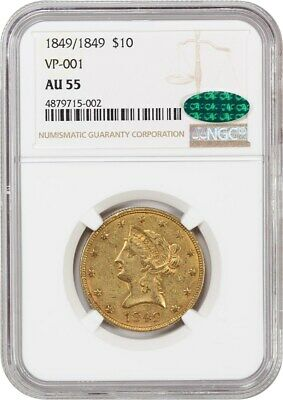1849/1849 NGC/CAC AU55 (VP-001) Gold Rush Year - Liberty Eagle - gold Coin