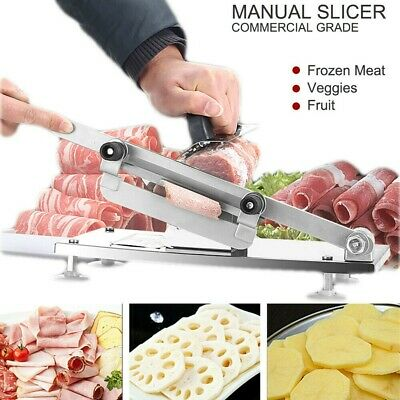 3pcs Frozen Meat Slicer Mutton Roll Silver Beef Roll Cutter Cheese Manual Steel