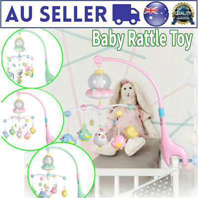 Baby Crib Bed Head Cot Night Light Hanging Bell Adjustable Children Infants Toy