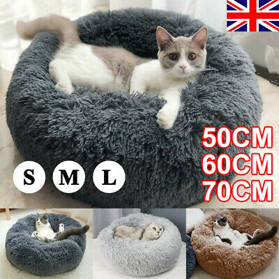 Large Dog Pet Cat Calming Bed Beds Plush Mat Comfy Puppy Washable Fluffy Cushion