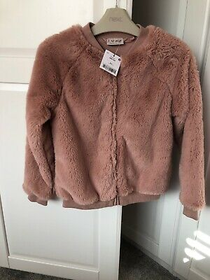 Next Girls Dusky Pink Fake Fur Jacket, New With Tag, 9 Years, Super Soft!