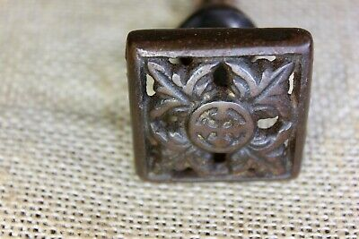 "old square Drawer pull knob 1 1/2"" interior shutter furniture decorated iron"
