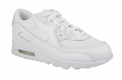 Kids White Trainers Nike Air Max 90 Leather Boys Girls Kid Sports School Shoes