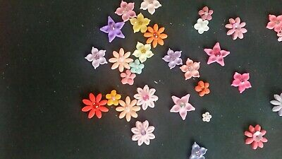 Selection Of Fimo Flowers Embellishments /Toppers X 31