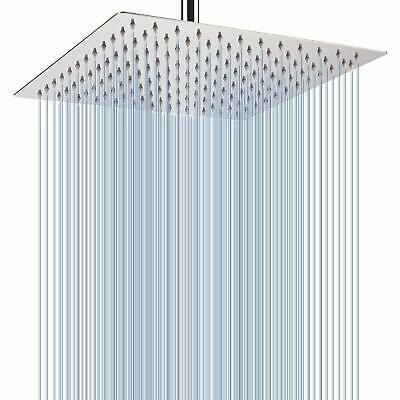 12'' Large Square Stainless Steel Rain Shower Head Rainfall Bathroom Sprayer