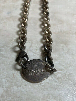 Tiffany & Co Sterling Silver Heavy Link Necklace Choker Length