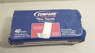 3 packs of 40 pads Compaire Thin Inserts Panty Liners Pantiliners Feminine Care