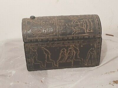 Rare Antique Ancient Egyptian Jewelry Box Art Crafts gos Osiris Nut1840-1760BC