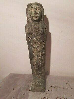 Rare Antique Ancient Egyptian Ushabti Cobra Snack Servant Mummy prote1790-1680BC