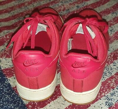 SCARPE NIKE AIR Force 1 Rosse con suola bianca ORIGINALI