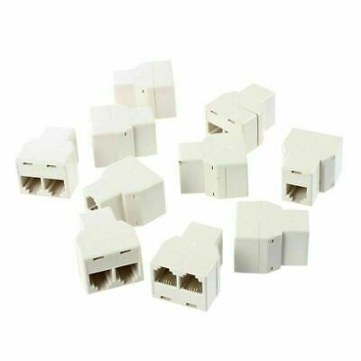 4X Modular TELEPHONE Line Cable Wall Outlet SPLITTER Triple Jack Connector VWLTW