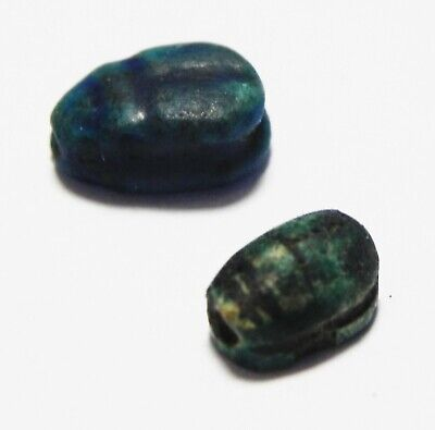 Zurqieh -As16269- Ancient Egypt, New Kingdom Lot Of 2 Scarabs. 1400 - 1200 B.c