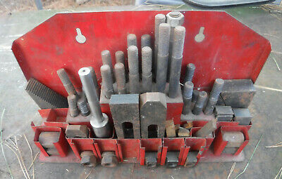 Set of Combination Step Block Clamp Metal Machinist Cutting Tool Bits Lathe