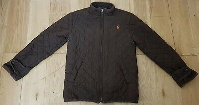 Polo Ralph Lauren Brown Girls Quilted Jacket Size Small Ages 8