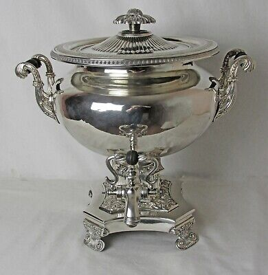 40 Cup English Xxl Silver Plated Samovar C:1860 Great Condition !!