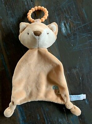 Douglas Baby Fox Mushroom Lil Sshlumpie Security Blanket Teether  12''
