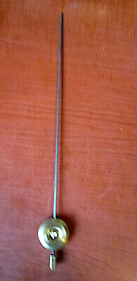 "NOS French Clock Pendulum Brass Bob 1 1/4"" Diameter 11-1/2"" long. W/ Hook (609L)"