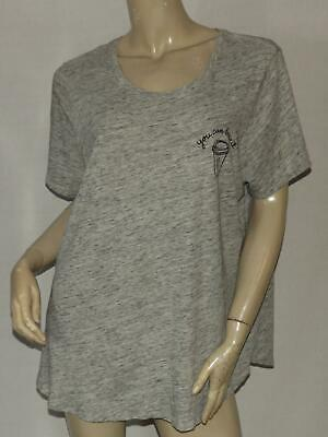Womens T-Shirt Size XXL 2XL OLD NAVY Gray Black Slouchy Coffee YOU CAN BREW IT