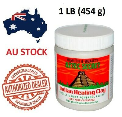 Aztec Secret Indian Healing Clay Facial Deep Pore Cleansing Mask 454g Genuine AU