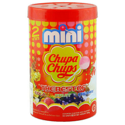 2 x MINI CHUPA CHUPS TUB FLAVOUR THE BEST OF CANDY PARTY LOLLIES FAVOURITES BULK