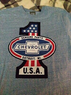 Chevrolet GENUINE CHEVY PARTS DISTRESSED SIGN Licensed Long Sleeve T-Shirt S-3XL