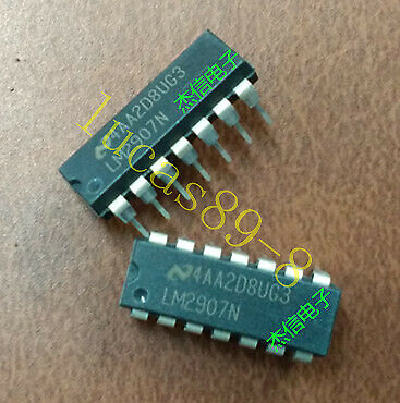 2 Pcs NEW LM2907N DIP-14 Frequency to Voltage Converter Free shipping
