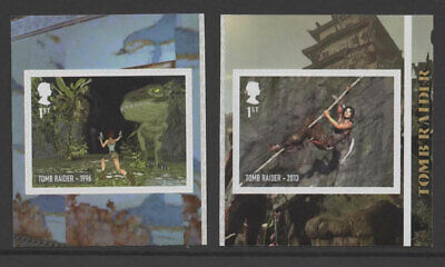 2020 Two x 1st 'Tomb Raider' SA from 'Video Games' Booklet PM71